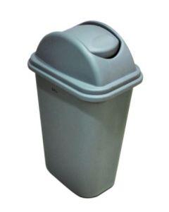 AKC Plastic Swing Top Waste Bin - 25 Liter, Grey