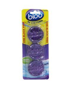 Bloo In Cistern Purple Water Toilet Cleaner, 38 Grams x Pack of 3