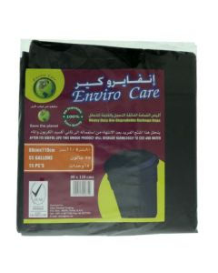 Enviro Care Heavy Duty Garbage Bags - 55 Gallons, 80 x 110cm, Black (Pack of 15)