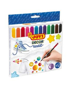 Jovi 1410 L5015 Decor Textil Pen - 4.8mm Tip, Assorted Color (Pack of 12)