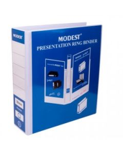Modest 2-Ring Presentation Binder - 5 Inch, A4, White