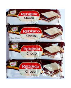 Rebisco Chocolate Cream Filled Cracker Sandwich, 30 Grams x (Pack of 10)