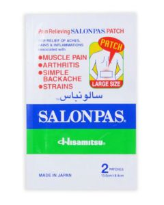 Salonpas Pain Relief Adhesive Patch - Large, 13 x 8.4 cm (Pack of 2)