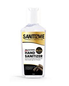 SanitizME Premium Gel Sanitizer - Oud, 75ml (Box of 96)