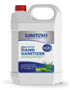 SanitizME Premium Gel Sanitizer, 5 Liter (Box of 4)