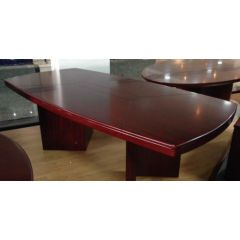 MAZ MF 052 Executive Rectangular Meeting Table - 240 x 120 x 78cm, Mahogany