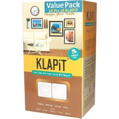 KLAPiT Magnetic Picture Mounting Strips - 2 Strips Holds 1Kg (14 / Pack)