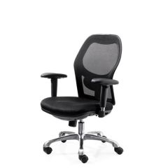 MAZ MF 0989 Medium Back Executive Chair, Black