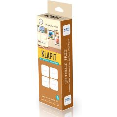 KLAPiT Magnetic Picture Mounting Strips - 2 Strips Holds 1Kg (4 / Pack)