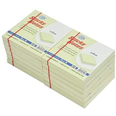 """FIS FSPO32N Sticky Notes - 3"""" x 2"""", Yellow, 100 Sheets x (12 Pads / Pack)"""