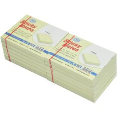 """FIS FSPO34N Sticky Notes - 3"""" x 4"""", Yellow, 100 Sheets x (12 Pads / Pack)"""