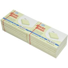 """FIS FSPO35N Sticky Notes - 3"""" x 5"""" - Yellow, 100 Sheets x (12 Pads / Pack)"""