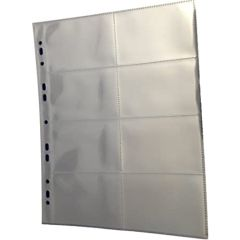 FIS FSHOTCR1 Trading Card Album Sleeves - 8 Pockets, Clear, 10 Sheets