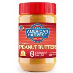 American Harvest Creamy Peanut Butter, 510 Grams