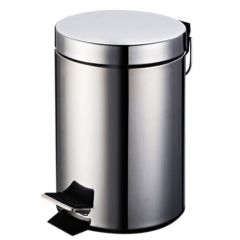 Hygiene System JF905567-S Shiny Round Pedal Bin, 30 Litre