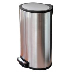 Brooks BKS SS OVL 098 Stainless Steel Oval Pedal Bin, 20 Liter