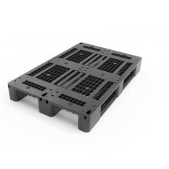 Palletco ST-09-1208 Medium Duty Plastic Pallet - 120(L) x 80(W) x 15(H)cm, Black