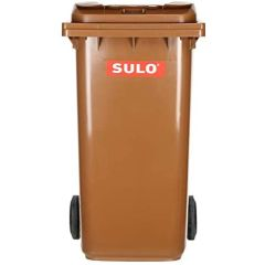Sulo Top Cutting Plastic Recycle Bin with Wheels - 240 Liter, Brown