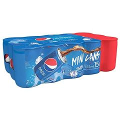 Pepsi Carbonated Soft Drink, 155ml  (Box of 15)