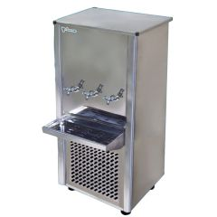 Climate+ Stainless 3 Tap Water Cooler / Dispenser, 45 Gallon