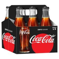 Coca Cola Zero - 250ml Glass Bottle (Pack of 6)