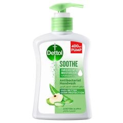 Dettol Soothe Antibacterial Liquid Hand Wash - Aloe Vera & Apple, 400ml