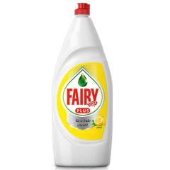 Fairy Plus Lemon Dishwashing Liquid Soap With Alternative Power To Bleach, 600ml