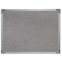 FIS FSGNF90X180GY Felt Board with Aluminium Frame - 90 x 180cm, Grey
