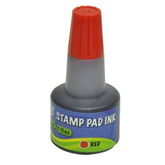 FIS FSIK030RE Stamp Pad Ink - 30ml, Red