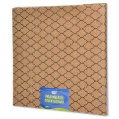 FIS FSGN101 Frameless Cork Board - 35.5 x 35.5cm, Brown