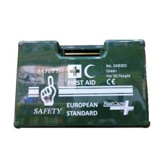 FastCare GKB 302 European Standard First Aid Kit - Green, 50 Persons