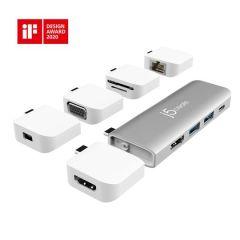 J5 Create JCD389 ULTRADRIVE Kit USB-C Multi-Display Modular Dock