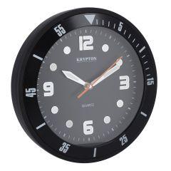 Krypton KNWC6120 Large Round Wall Clock, Grey