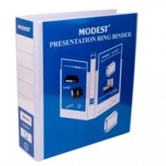 Modest 2-Ring Presentation Binder - 4 Inch, A4, White