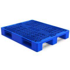 Palletco ST-11 3 Runner Industrial Pallet - 120 x 100 x 17cm, Blue