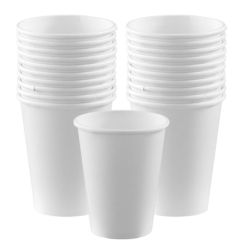 ADY Single Wall Paper Cups - 9oz, White (Pack of 50)