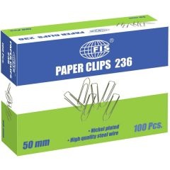 FIS FSPS236  Boat Shaped Paper Clips, 50mm (Pack of 100)