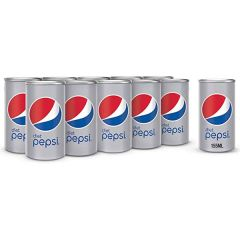 Pepsi Diet Carbonated Soft Drink, 155ml (Box of 15)