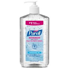 Purell Advanced Hand Sanitizer Pump Bottle - Refreshing Gel, 1 Liter (Pack of 6)