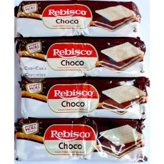 Rebisco Chocolate Cream Filled Cracker Sandwich, 30 Grams x (Pack of 10)