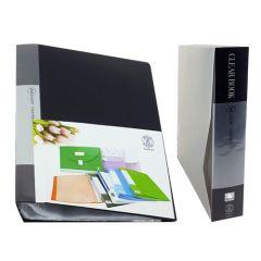Sadaf SDF20 Clear Book - 20 Pockets, A4, Black