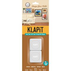 KLAPiT Magnetic Picture Mounting Strips - Holds 1Kg (2 / Pack)