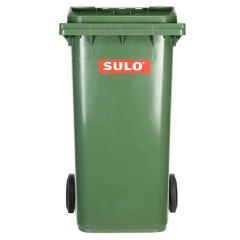 Sulo Top Cutting Plastic Recycle Bin with Wheels - 240 Liter, Green