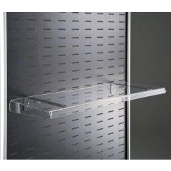 Tecnostyl PRTX91 Tray with Screws & Brackets for A4 Brochure  - 26 x 33.5 x 4.5cm, Transparent