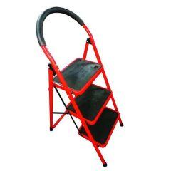UpSpirit Household 3-Step Ladder - 150 Kg Capacity, Red