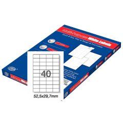 FIS FSLA40-100 Multi-Purpose Label - 52.5 x 29.7mm , 40 Labels, White (Box  of 100)