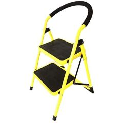 UpSpirit Household 2-Step Ladder - 150 Kg Capacity, Yellow