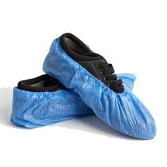 Fine Cast Embossed Polyethylene Shoe Cover, Blue (Pack of 100)